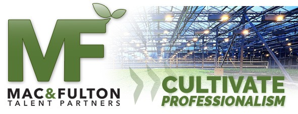 M&F Icon representing horticulture recruiting service, staffing, vertical farming, CEA, and urban agriculture